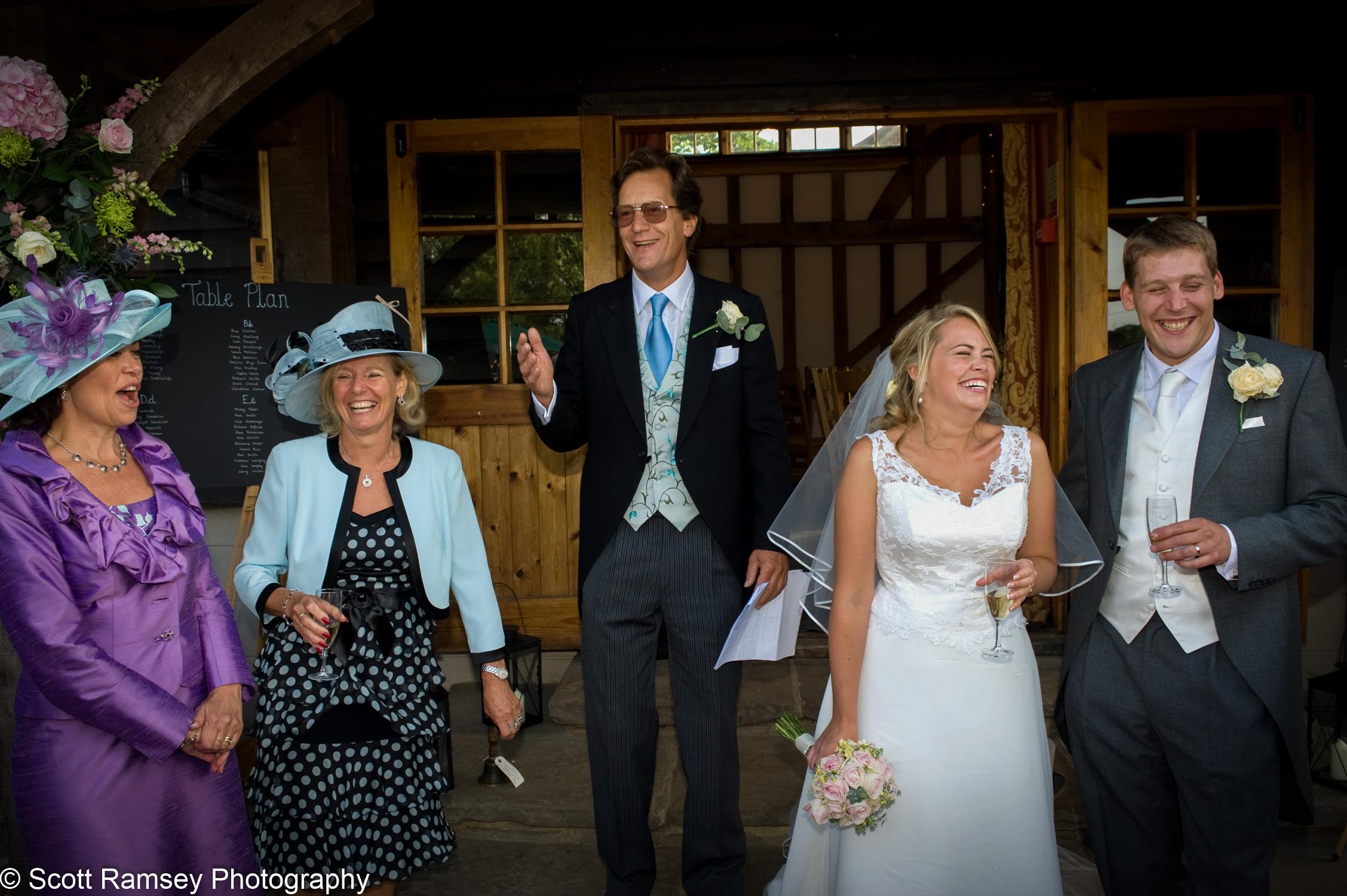 Funny Wedding Speech Gate Street Barn