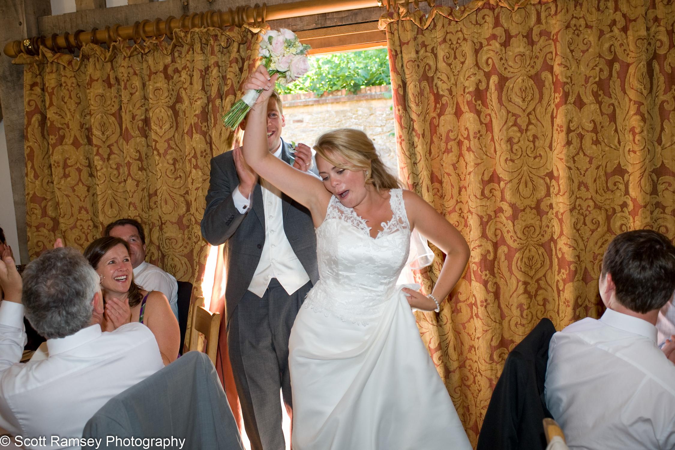 Bride And Groom Wedding Reception Gate Street Barn