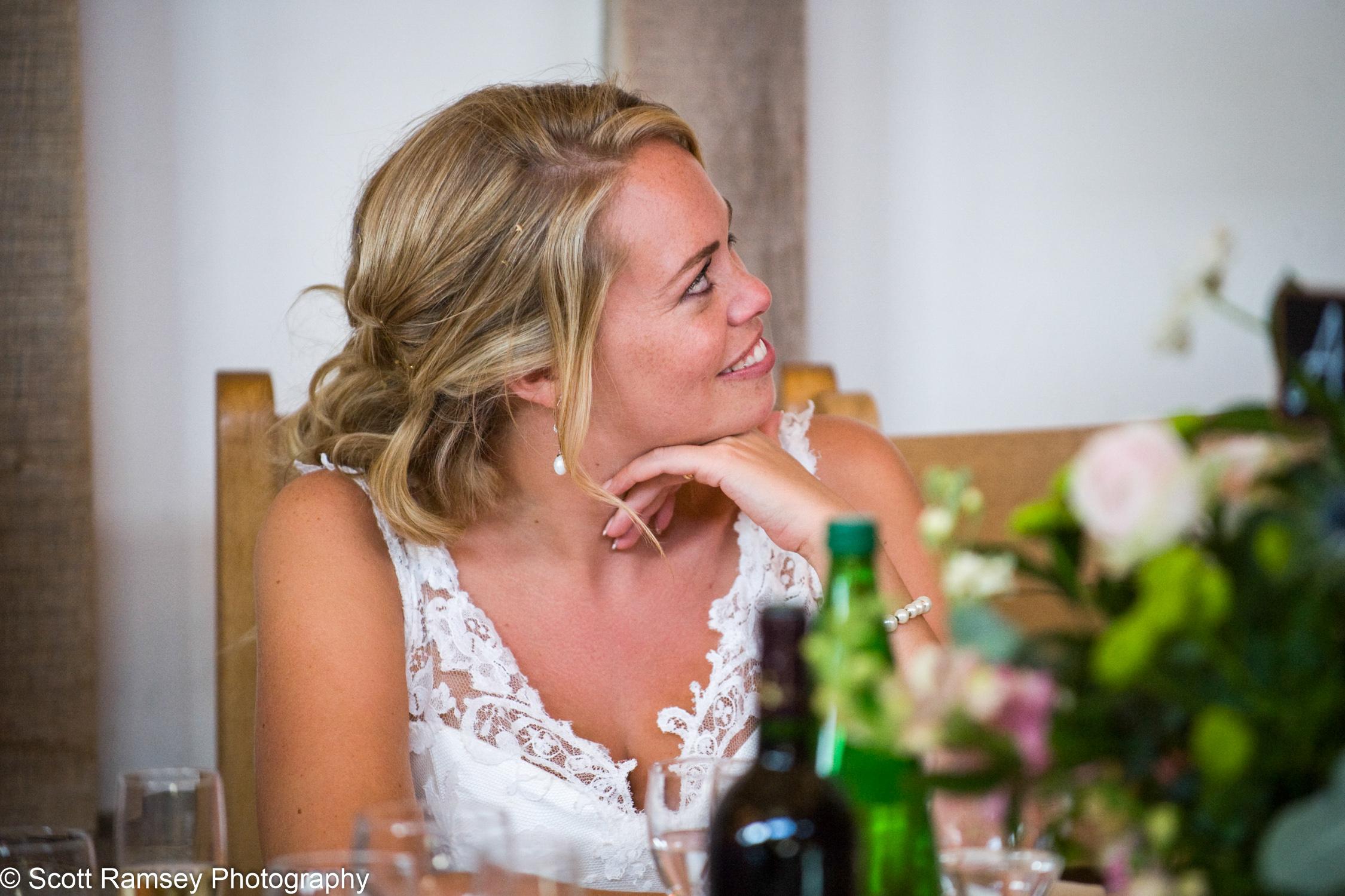 Bride Listening To Grooms Speech