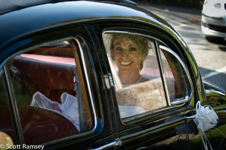 Bride Arrives For Wedding Surrey