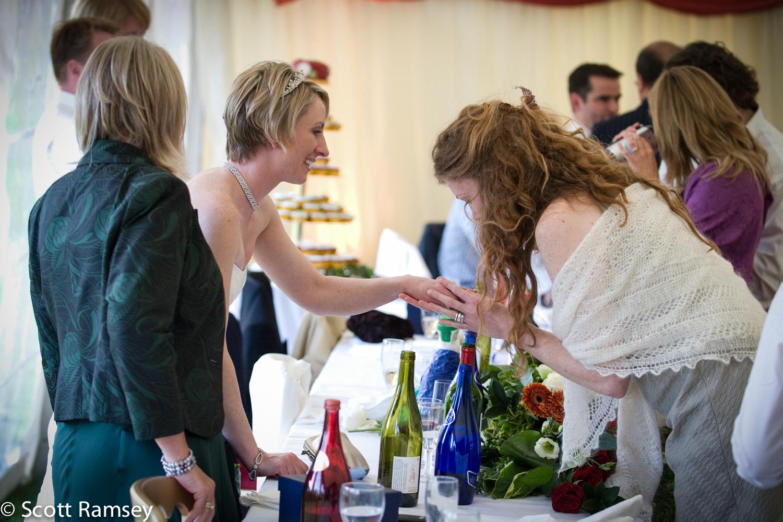 Bride And Guests Surrey Wedding