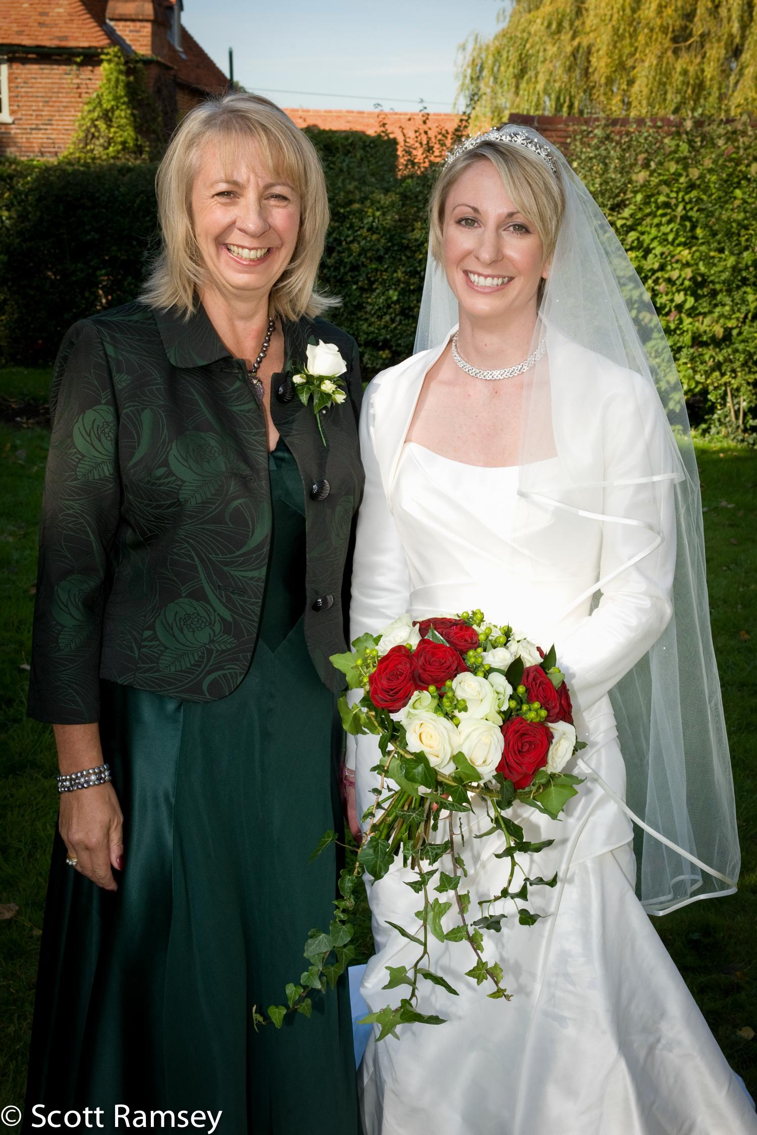 Bride And Her Mum Surrey