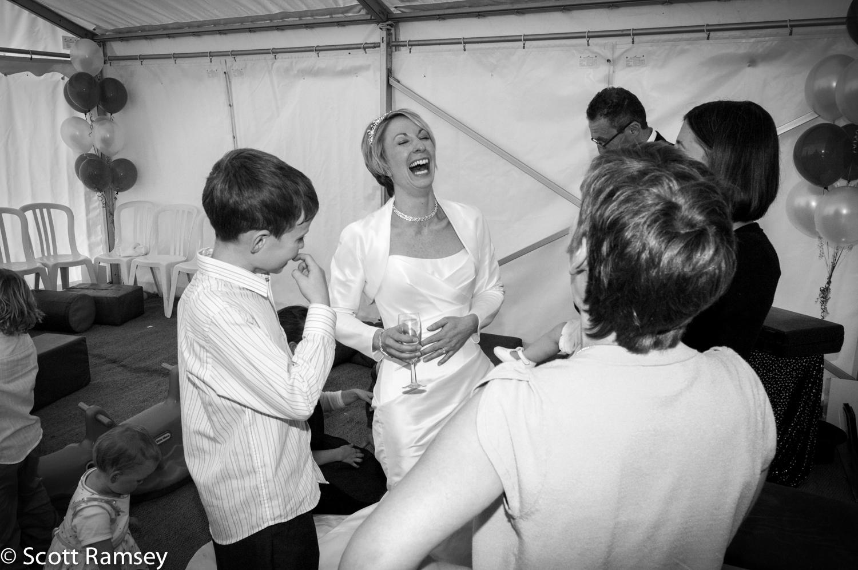 Bride And Guests Wedding Surrey