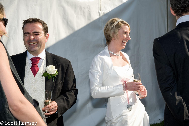 Bride And Groom Laughing Surrey Wedding