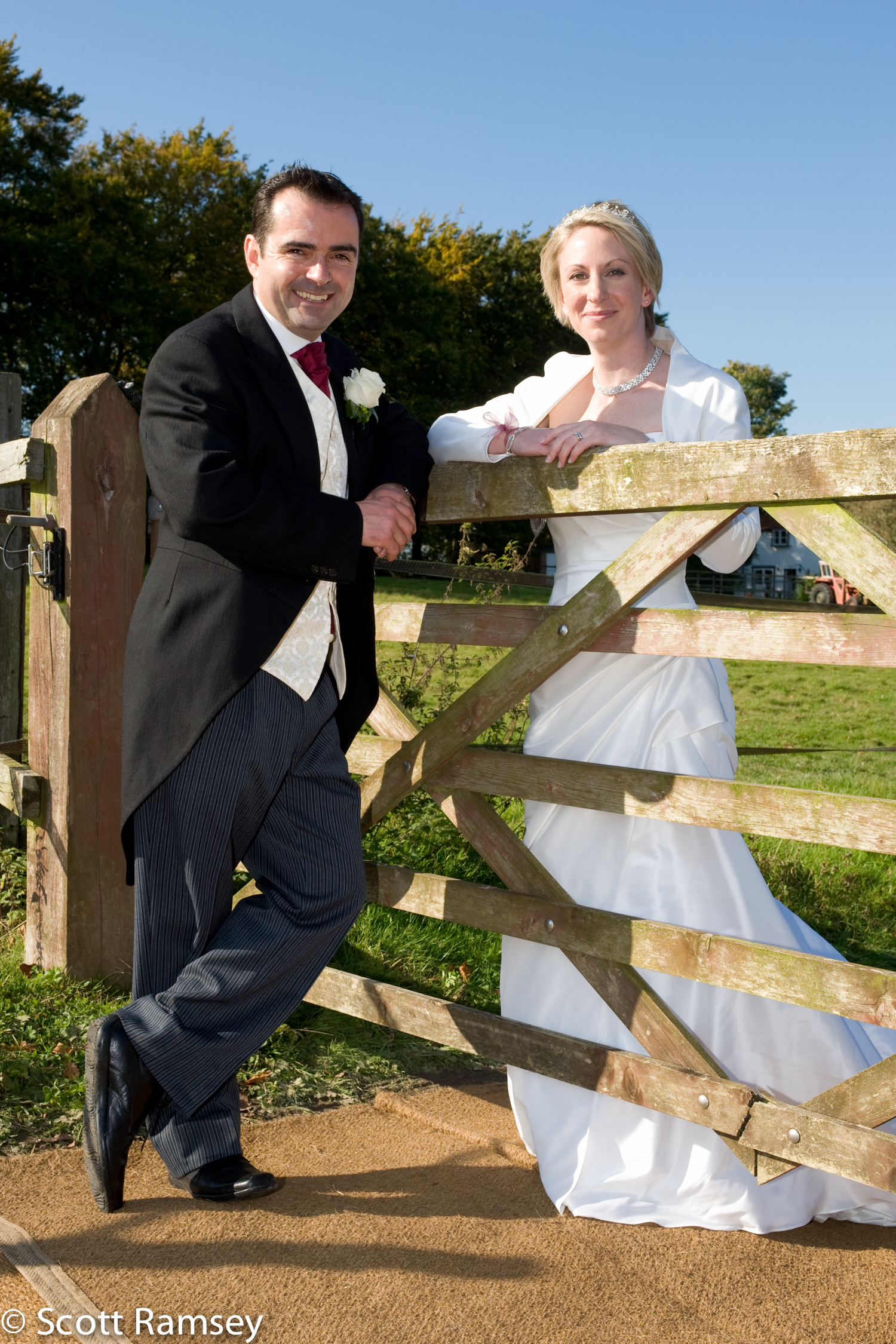 Bride And Groom Countryside Photo