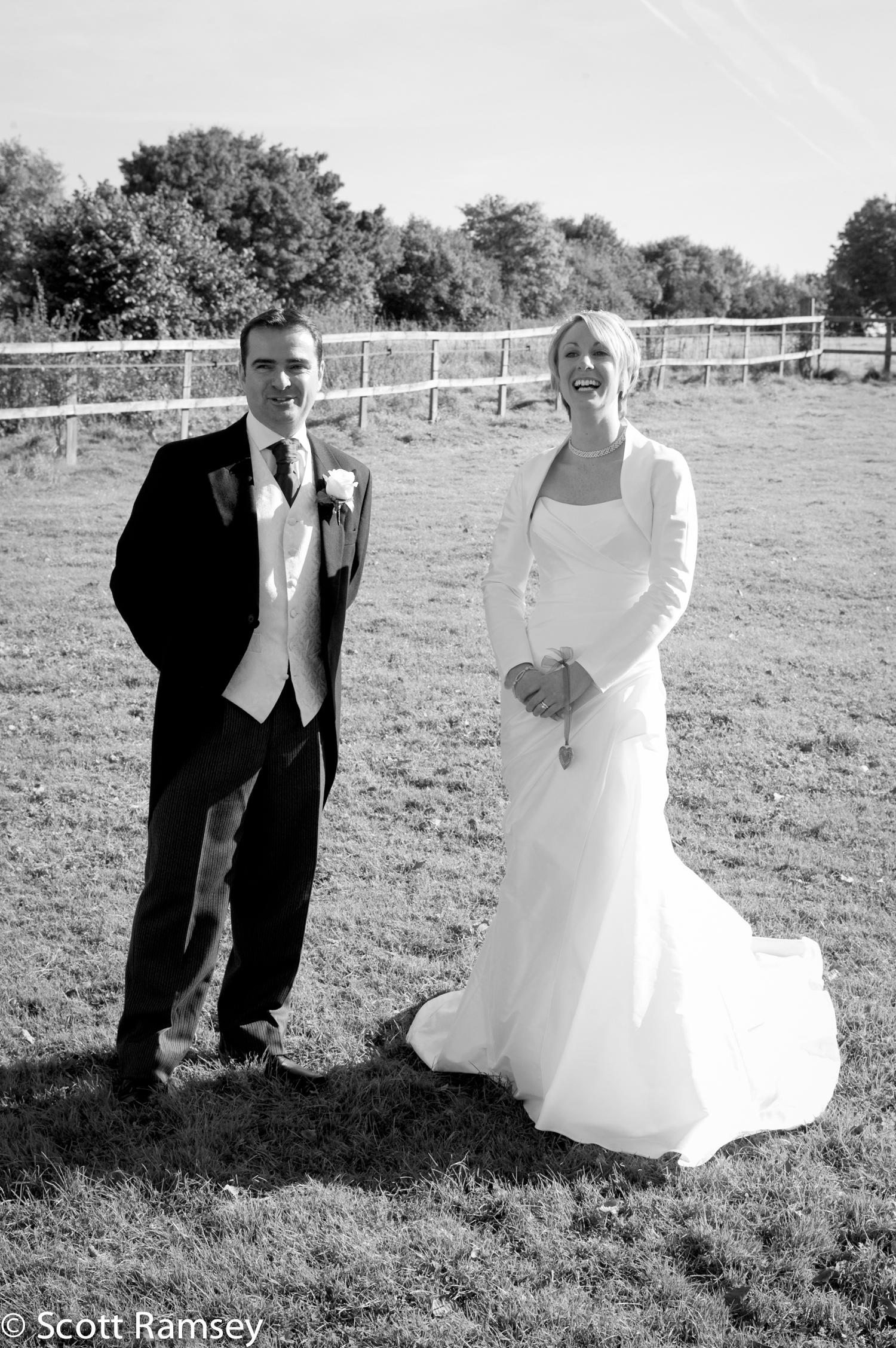 Bride And Groom Surrey Wedding