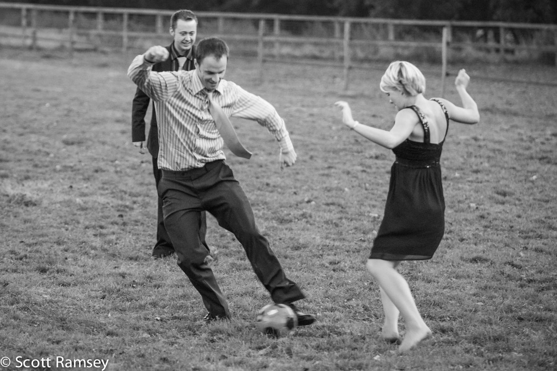 Football Game At A Surrey Wedding