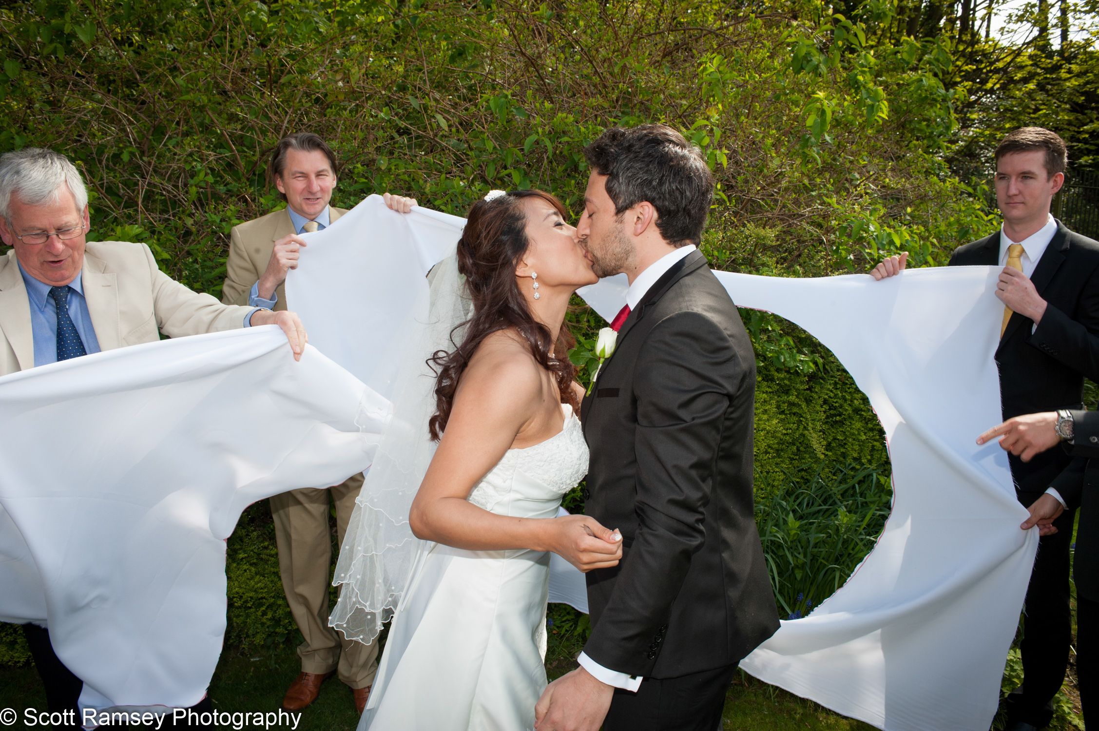 Portsmouth Registry Office Wedding Couple Kiss 040513-30