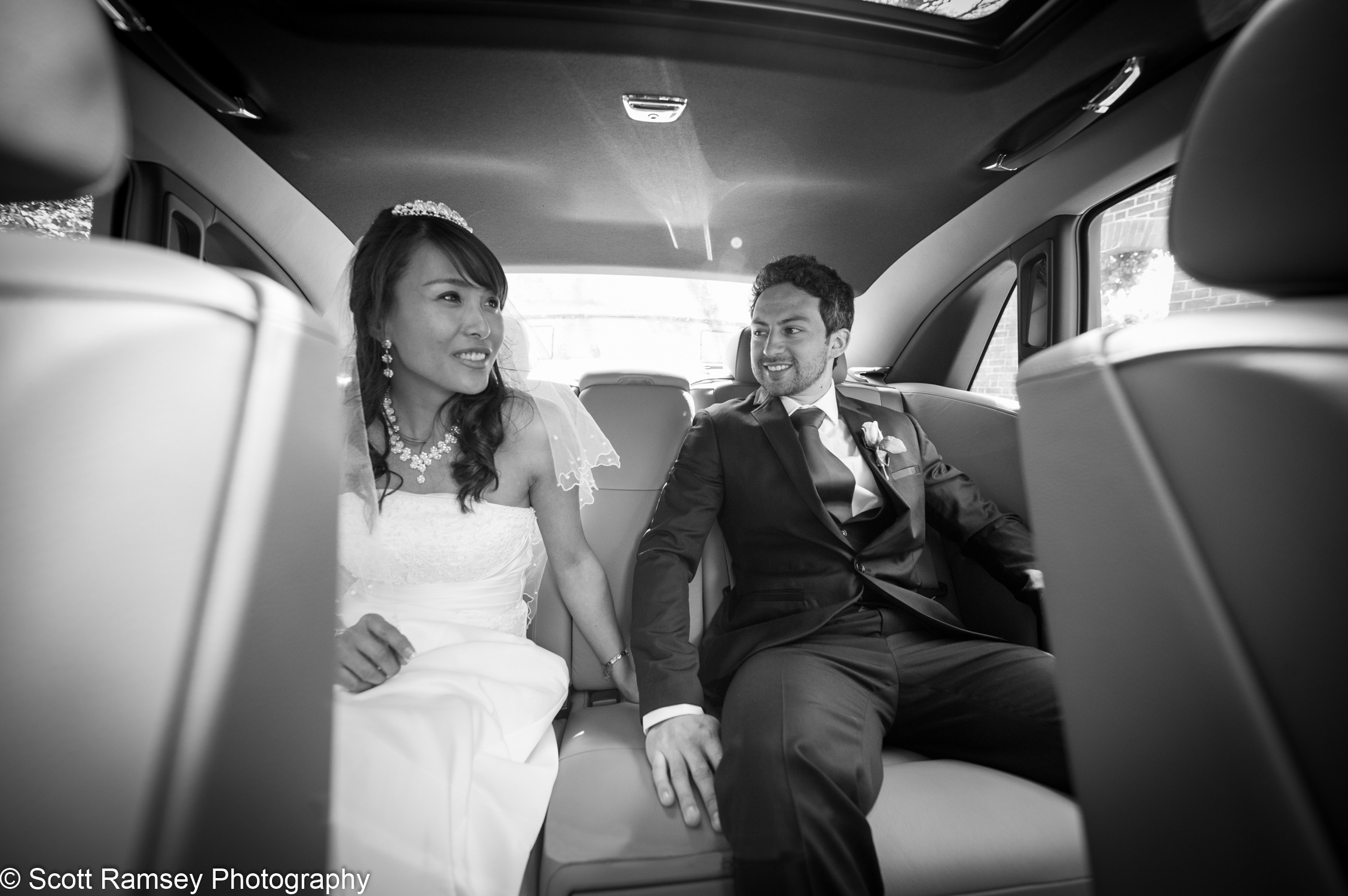 Portsmouth Registry Office Wedding Couple In Car 040513-38