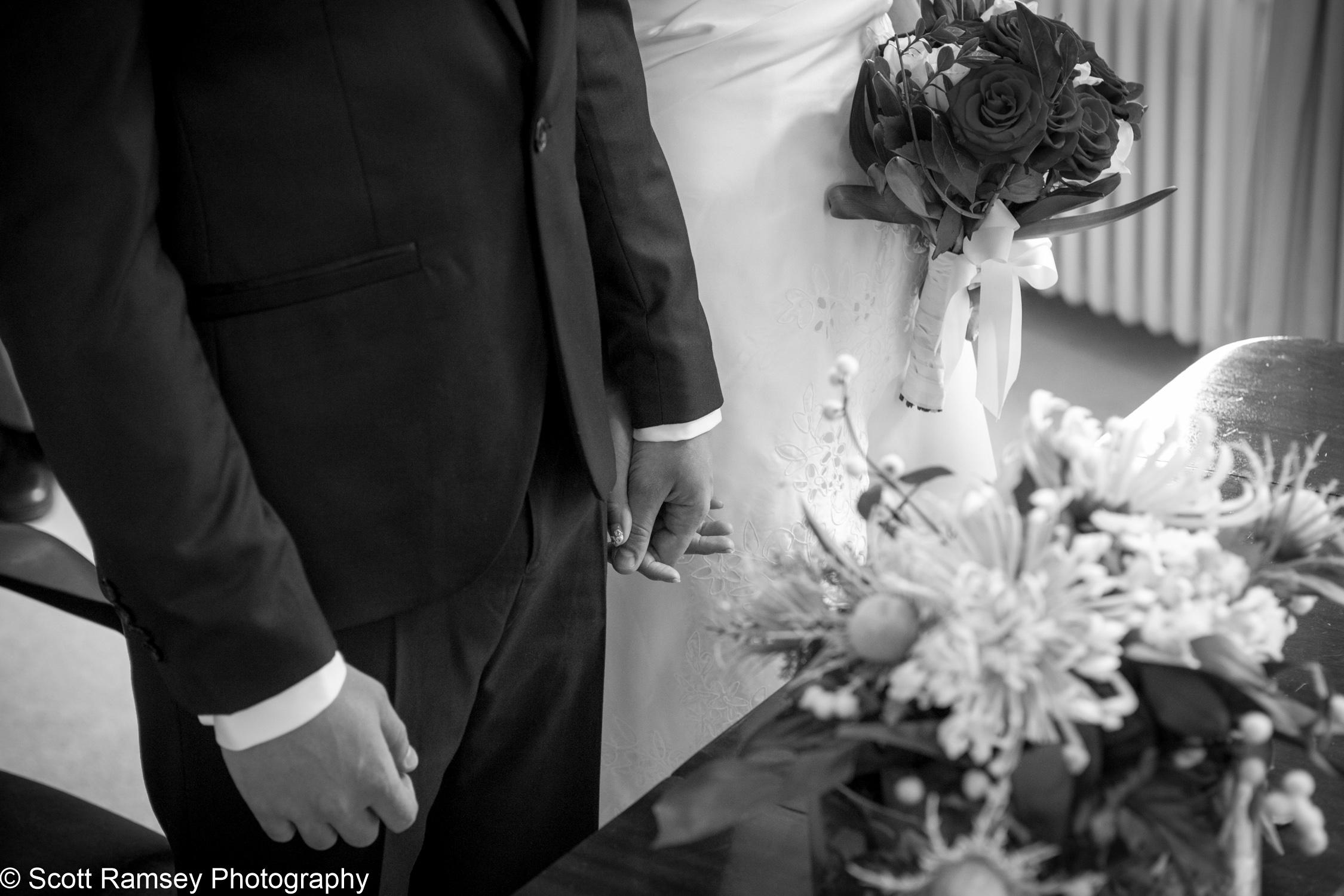 Portsmouth Registry Office Wedding Holding Hands 040513-11