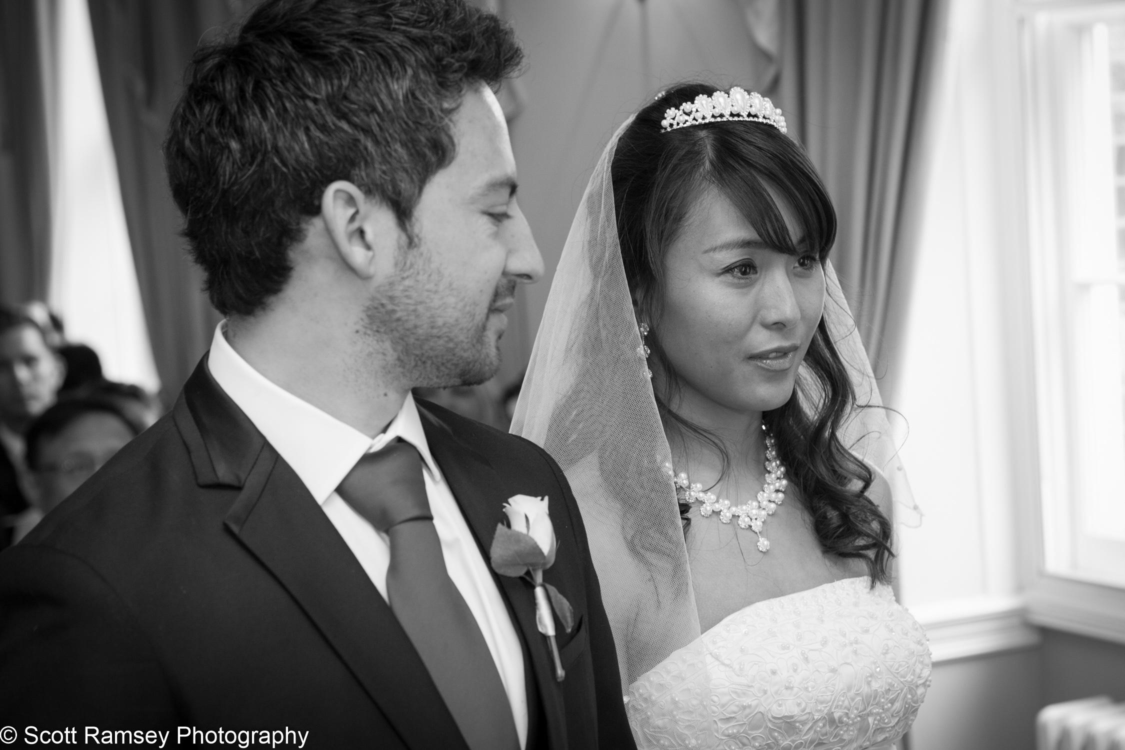 Portsmouth Registry Office Wedding Groom Looks At Bride 040513-12