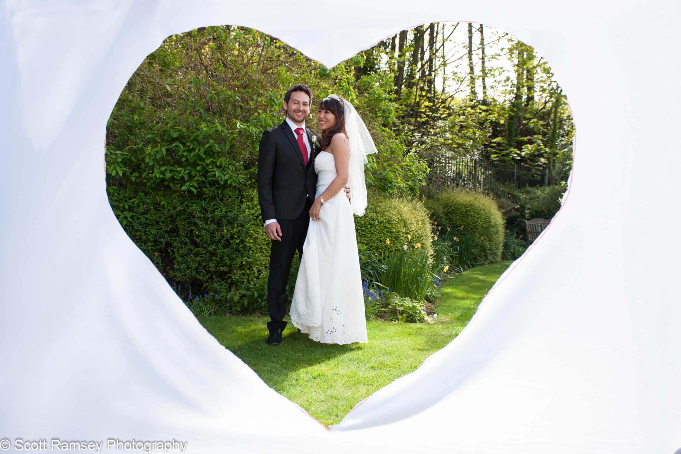 Portsmouth Registry Office Wedding Heart Shape 040513-34