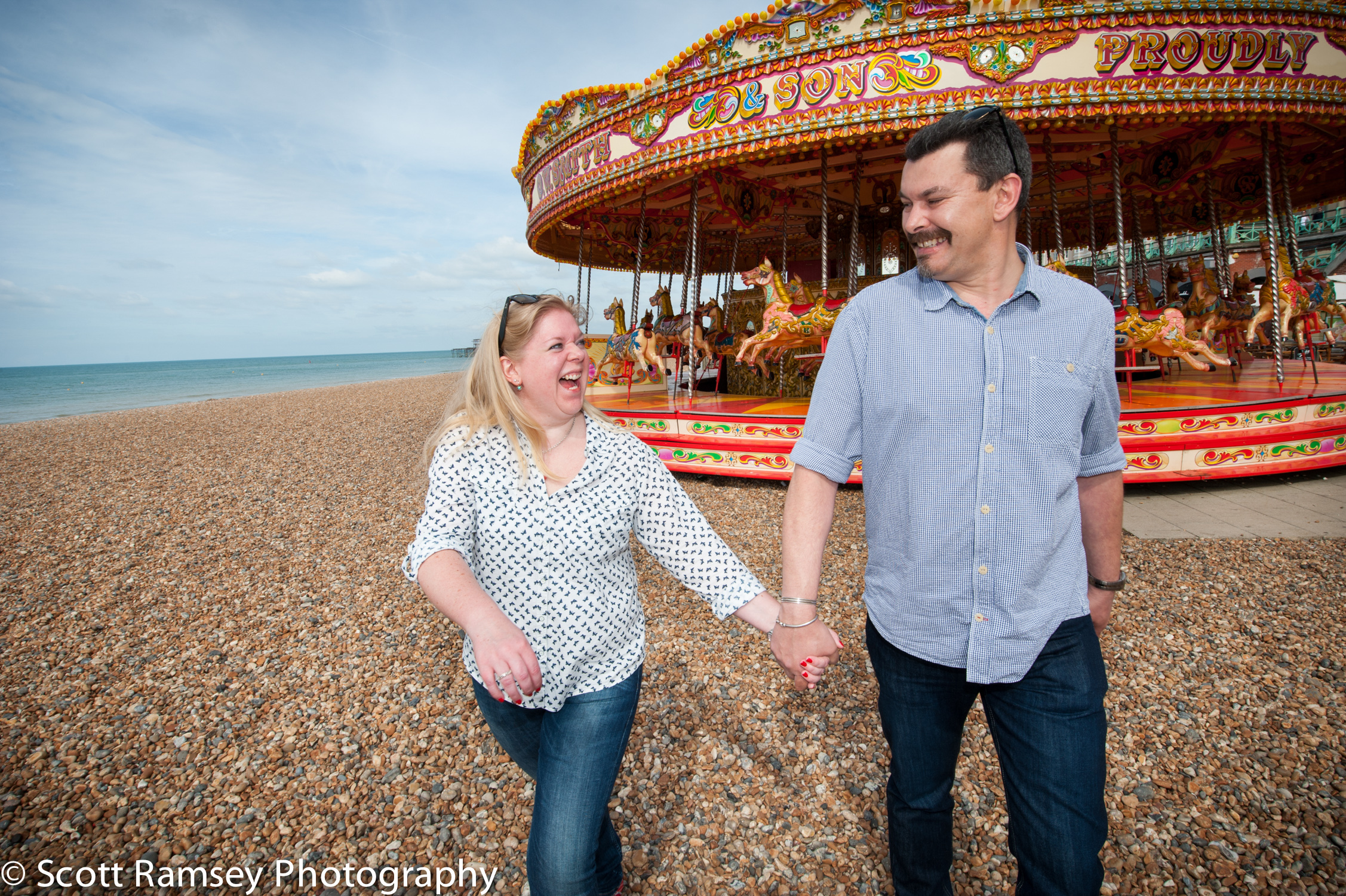 Brighton Beach Engagement Photography