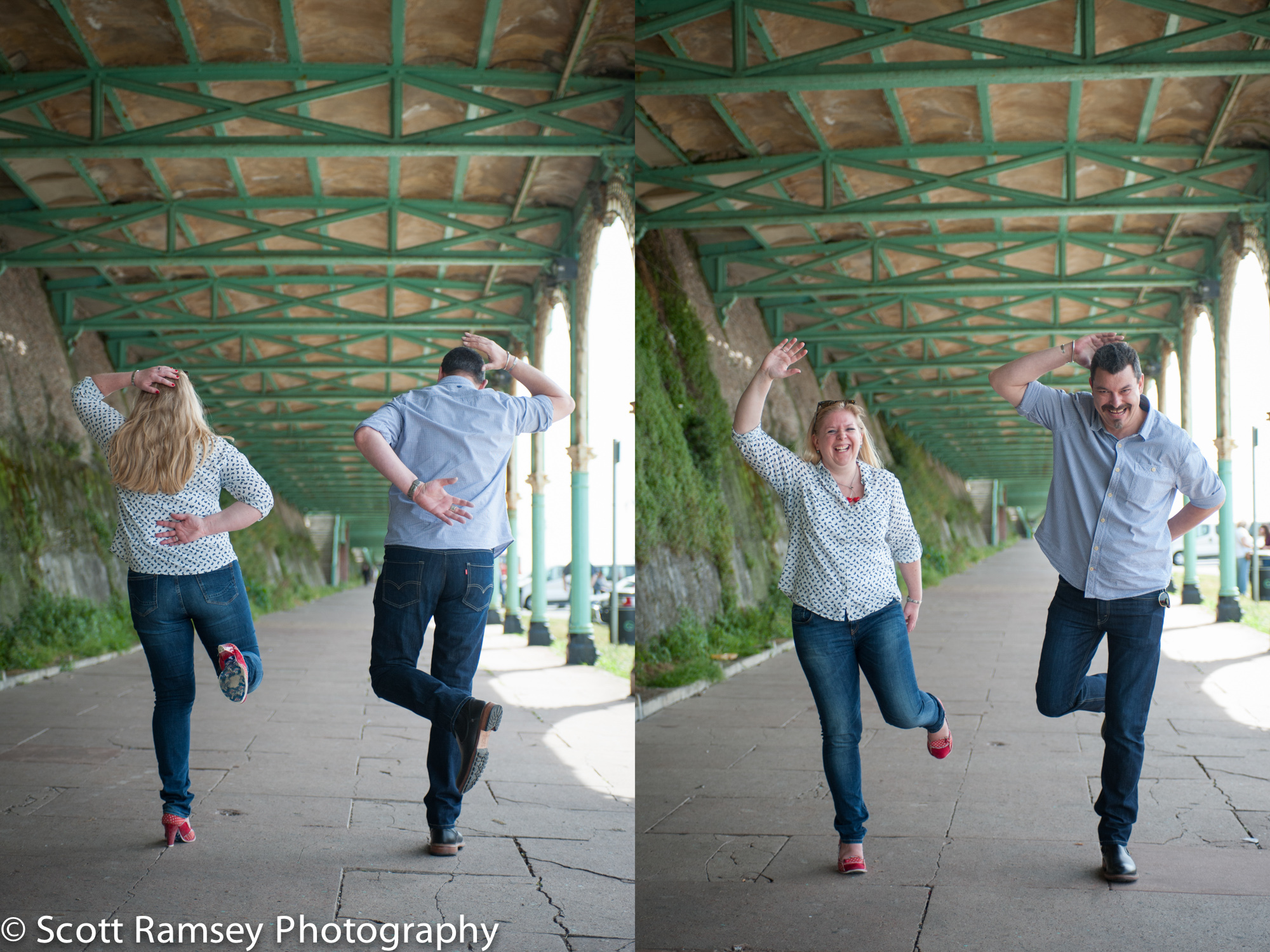 Fun Creative Engagement Photography Brighton