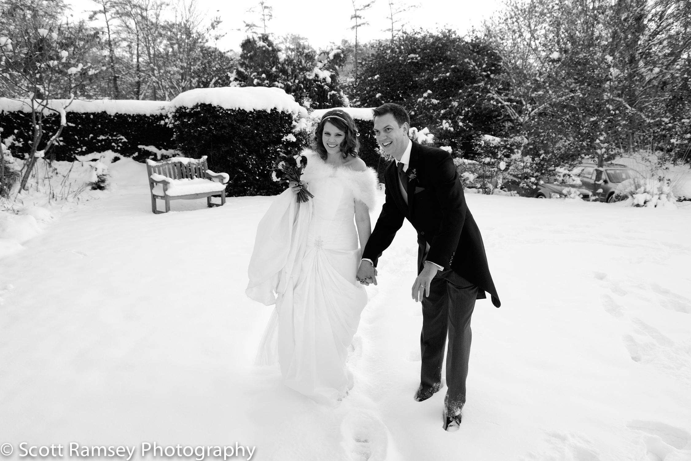 Winter-Wedding-Spread-Eagle-Hotel-Midhurst-Bride-Groom-Laughing-