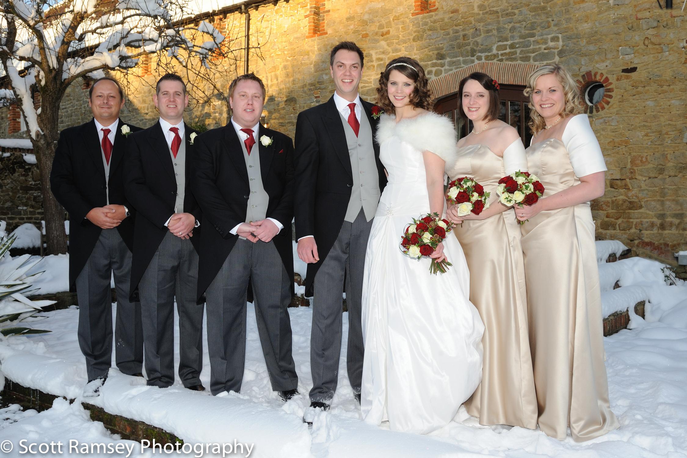 Winter-Wedding-Spread-Eagle-Hotel-Midhurst-Bride-Groom-Ushers-Br