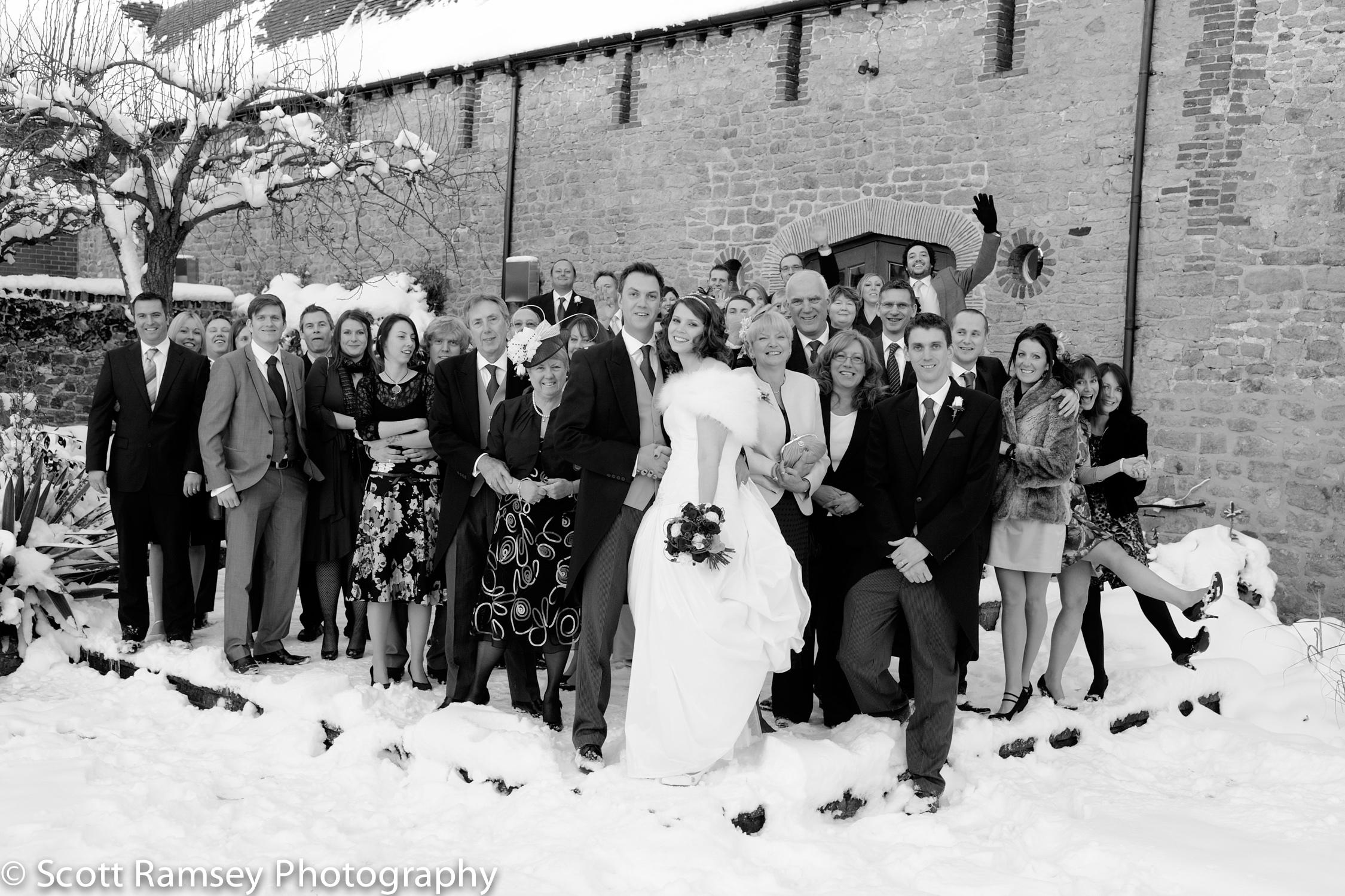 Winter-Wedding-Spread-Eagle-Hotel-Midhurst-Fun-Snow-Wedding-Grou