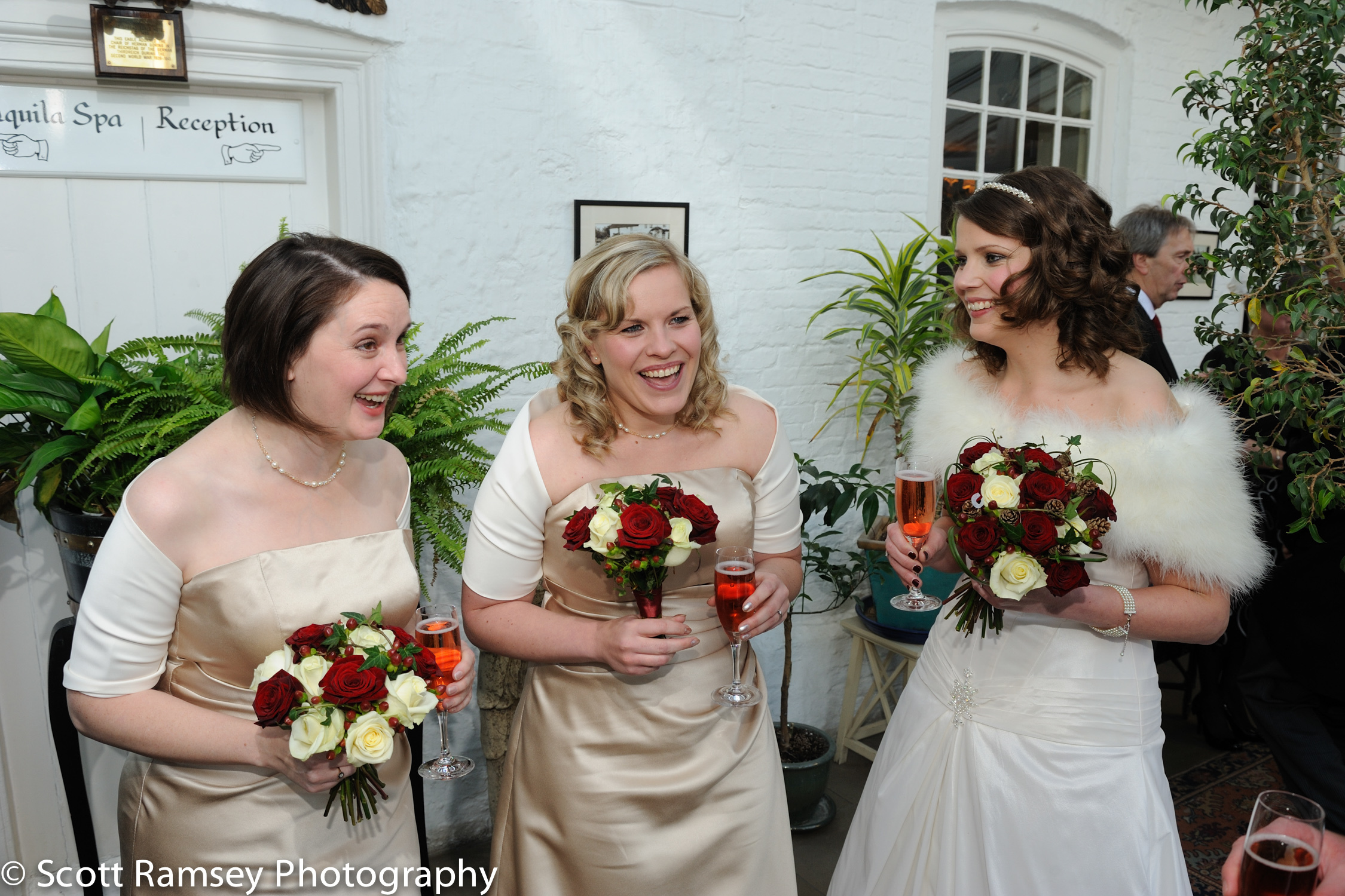 Winter-Wedding-Spread-Eagle-Hotel-Midhurst-Happy-Bride-And-Bride