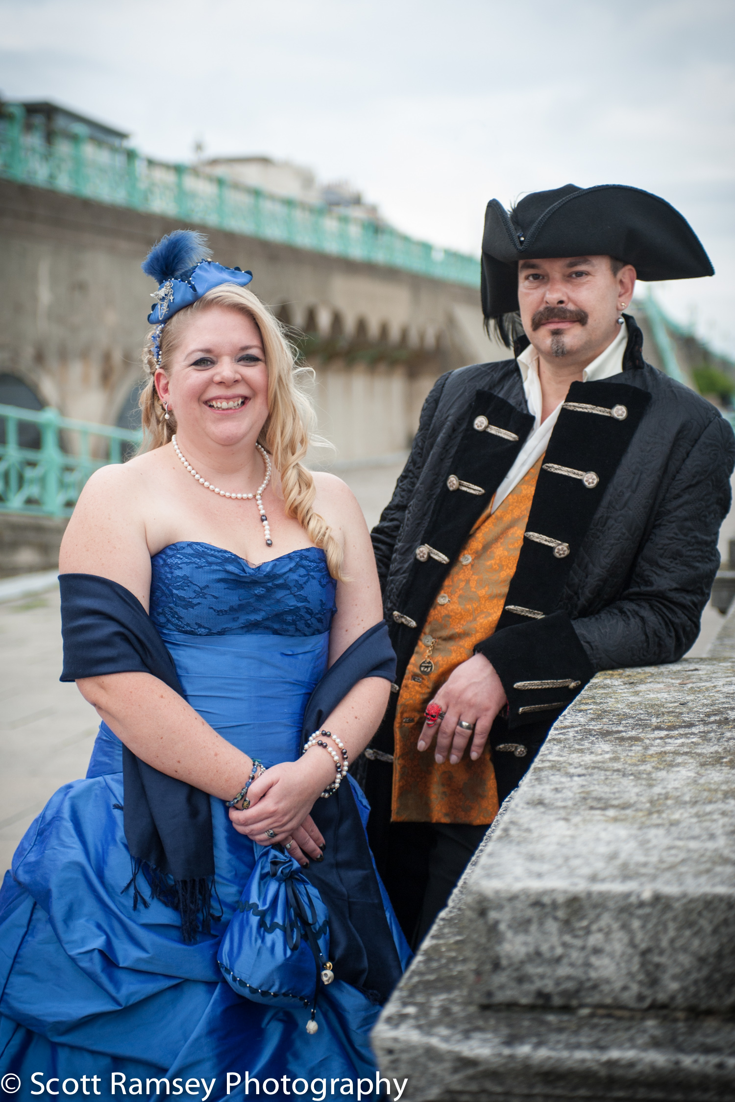 Brighton-Wedding-Photography-Pirate-Theme-Bride-Groom-Seafront-1