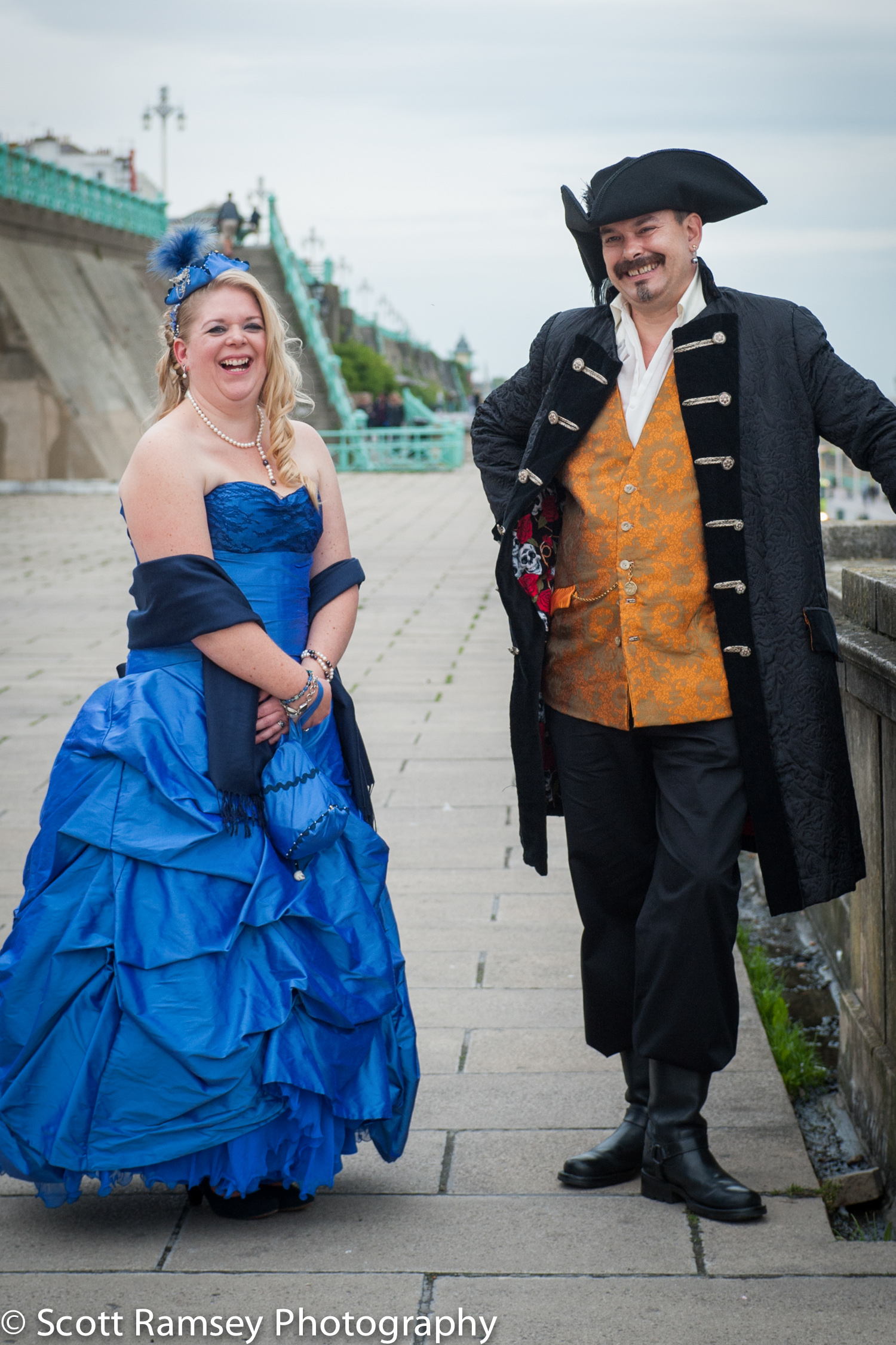 Brighton-Wedding-Photography-Pirate-Theme-Happy- Laughing-Bride-