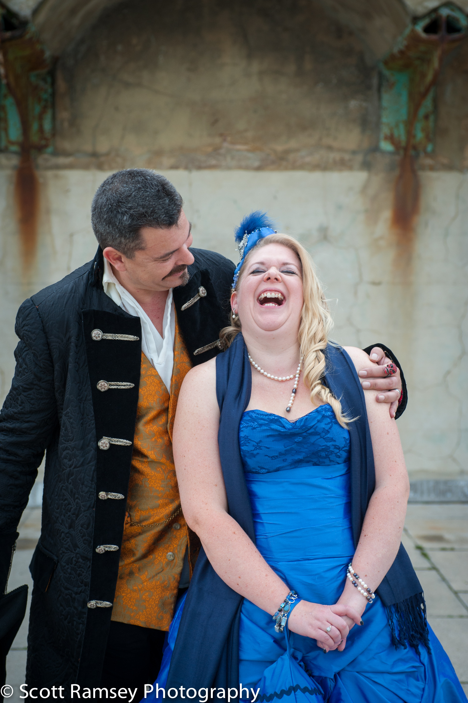 Brighton-Wedding-Photography-Pirate-Theme-Bride-Laughing-140913-