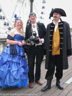 Photographer Scott Ramsey photographed whilst covering a pirate wedding in Brighton.