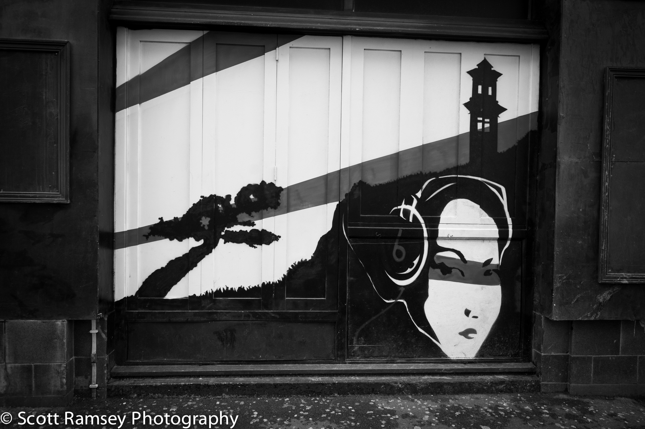 The painting on the wall of a nightclub called Madame Geisha in East Street, Brighton, East Sussex, UK.