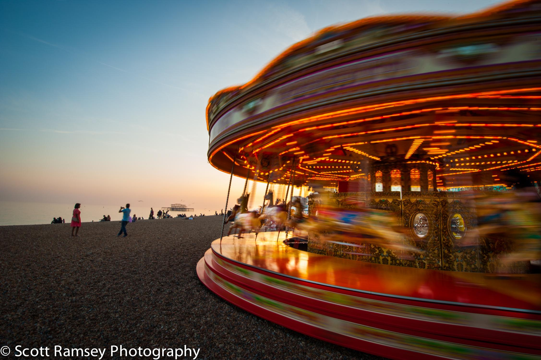 Brighton beach carousel.