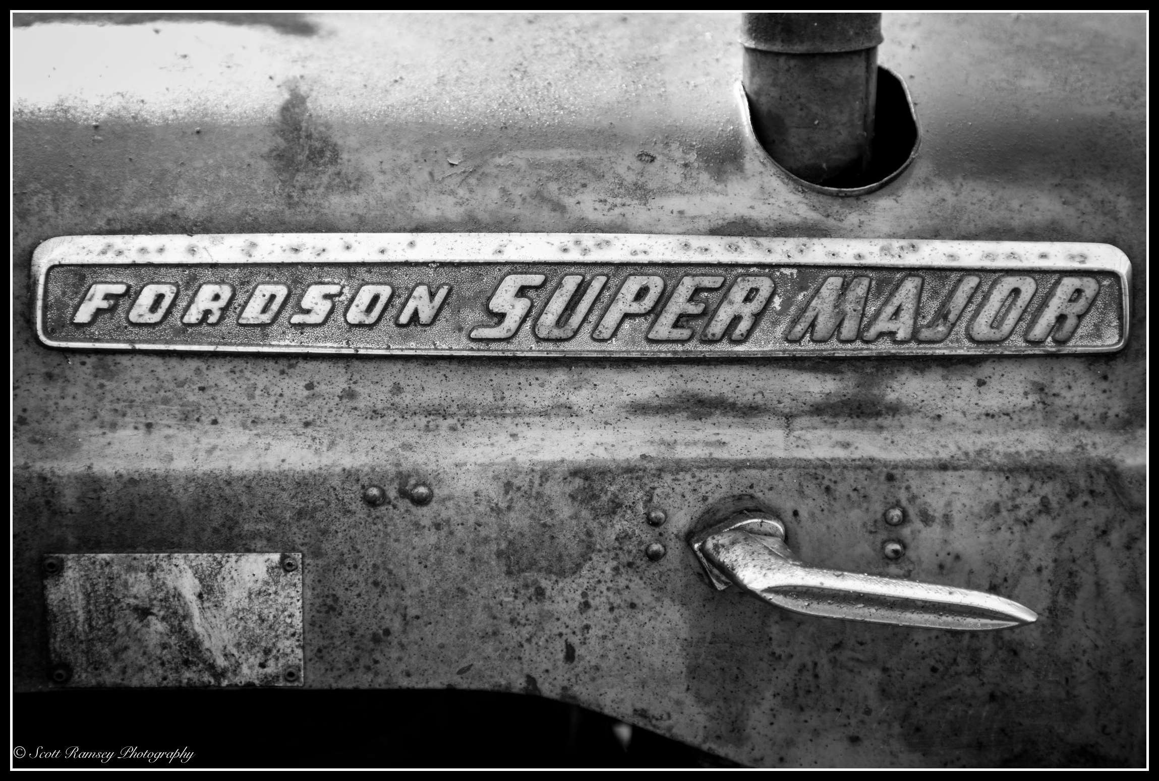 A name plate of a Fordson Super Major vintage tractor. These mass produced tractors where manufactured by Henry Ford & Son Inc from 1917 to 1920.