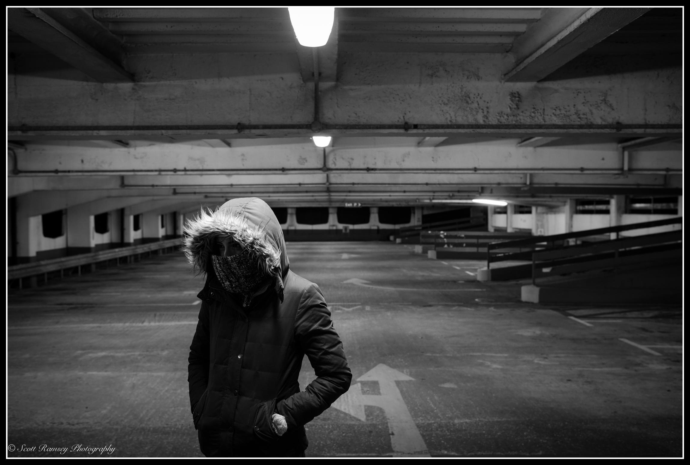 Urban-Nights-Car-Park-Lights-ScottRamseyPhotography-020215-053BWB