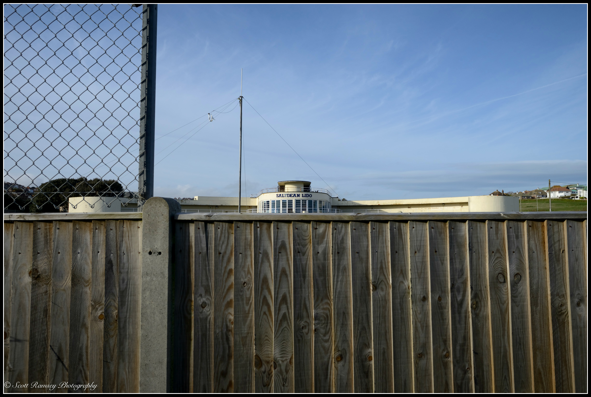 For the last few years this is one of the only views local residents have had of Saltdean Lido however with work starting soon this will hopefully soon change. © Scott Ramsey Photography