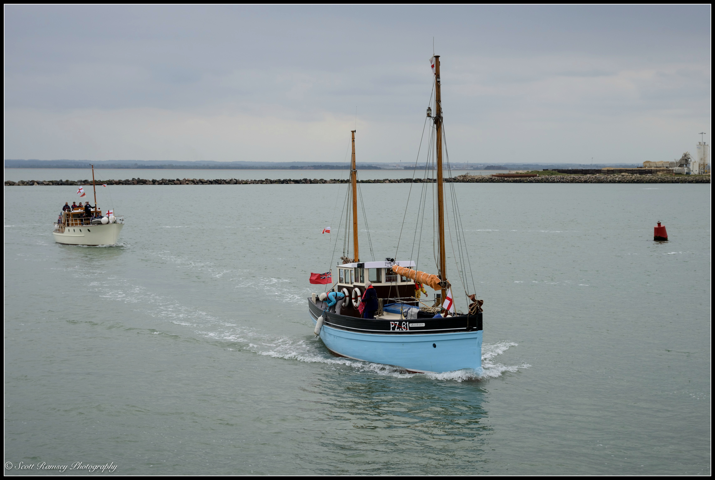 The Maid Marion, a 1925 Cornish luggerand one of the original Dunkirk Little Ships, returns to the Royal Harbour Marina Ramsgate during a weekend of events to commemorate the 75th anniversary of Operation Dynamo. ©Scott Ramsey Photography