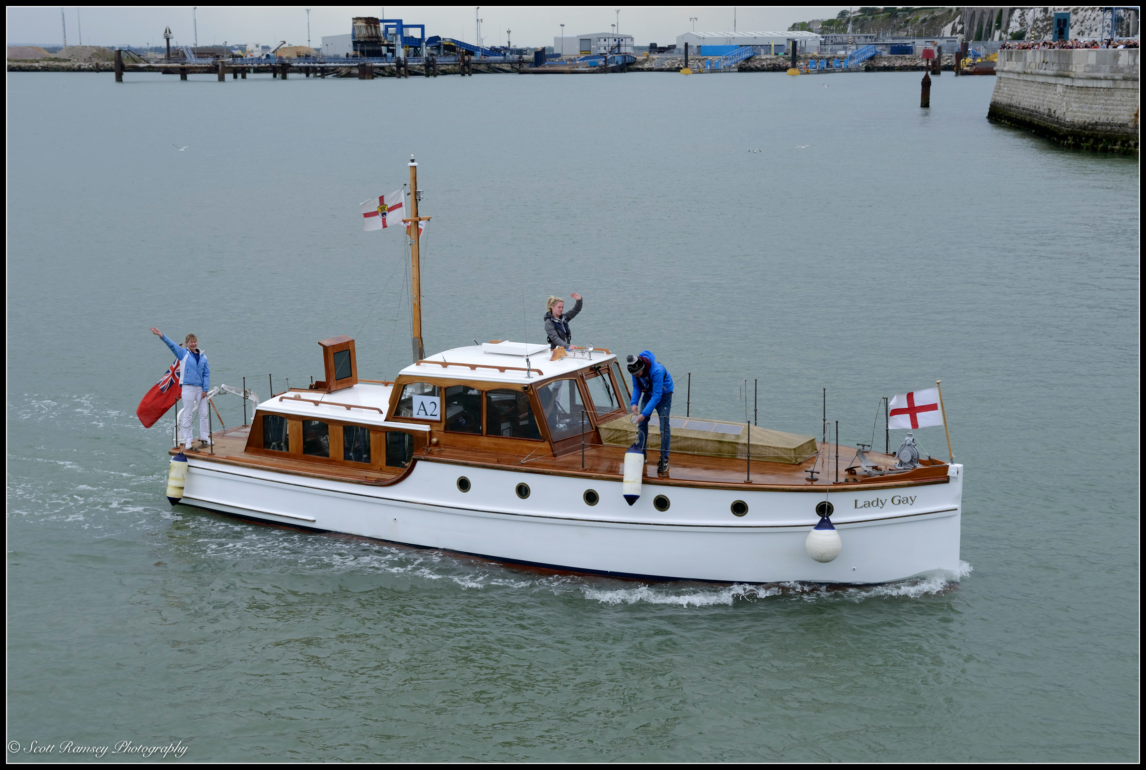 The Lady Gay, a 1934 motor yacht andone of the original Dunkirk Little Ships, returns to the Royal Harbour Marina Ramsgate during a weekend of events to commemorate the 75th anniversary of Operation Dynamo.©Scott Ramsey Photography