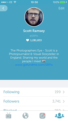 Periscope is a great way for me to share stories I'm working on.