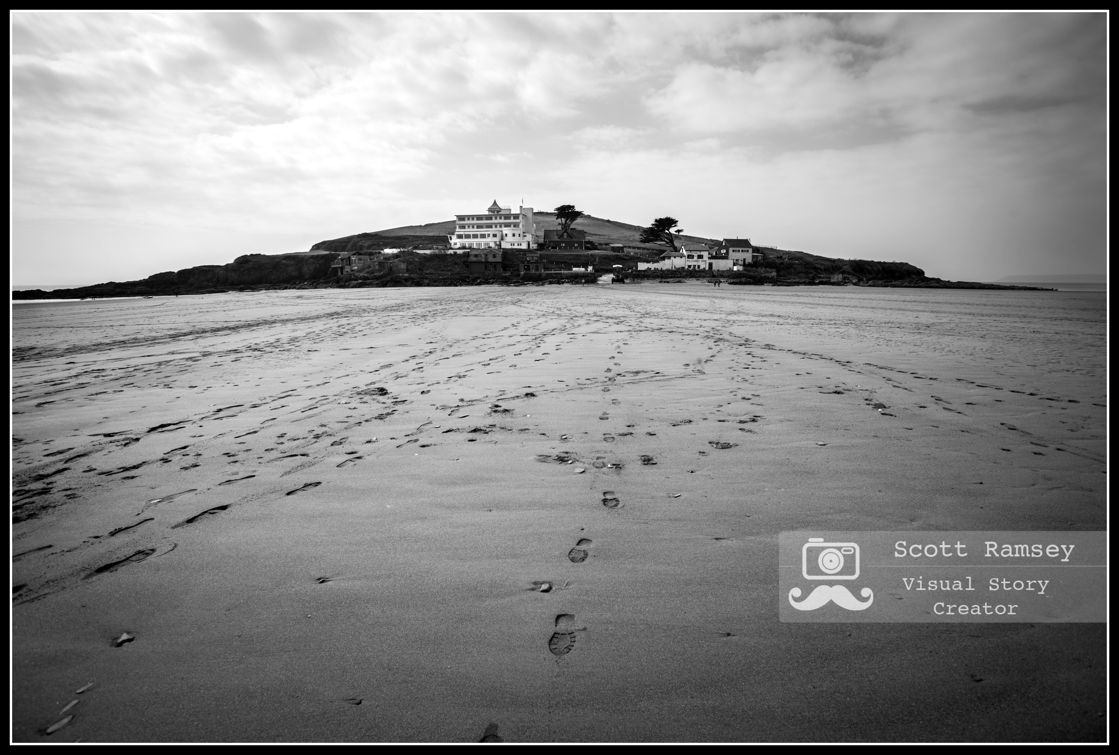 Burgh Island at low tide in Devon, England.  Photo © Scott Ramsey. Early records show the name of the island to be St Michael's Island and also Borough Island but these days people know it as Burgh Island. The island inspired the English writer, Agatha Christie , who used it as inspiration for Soldier Island in her mystery novel  And Then There Were None .