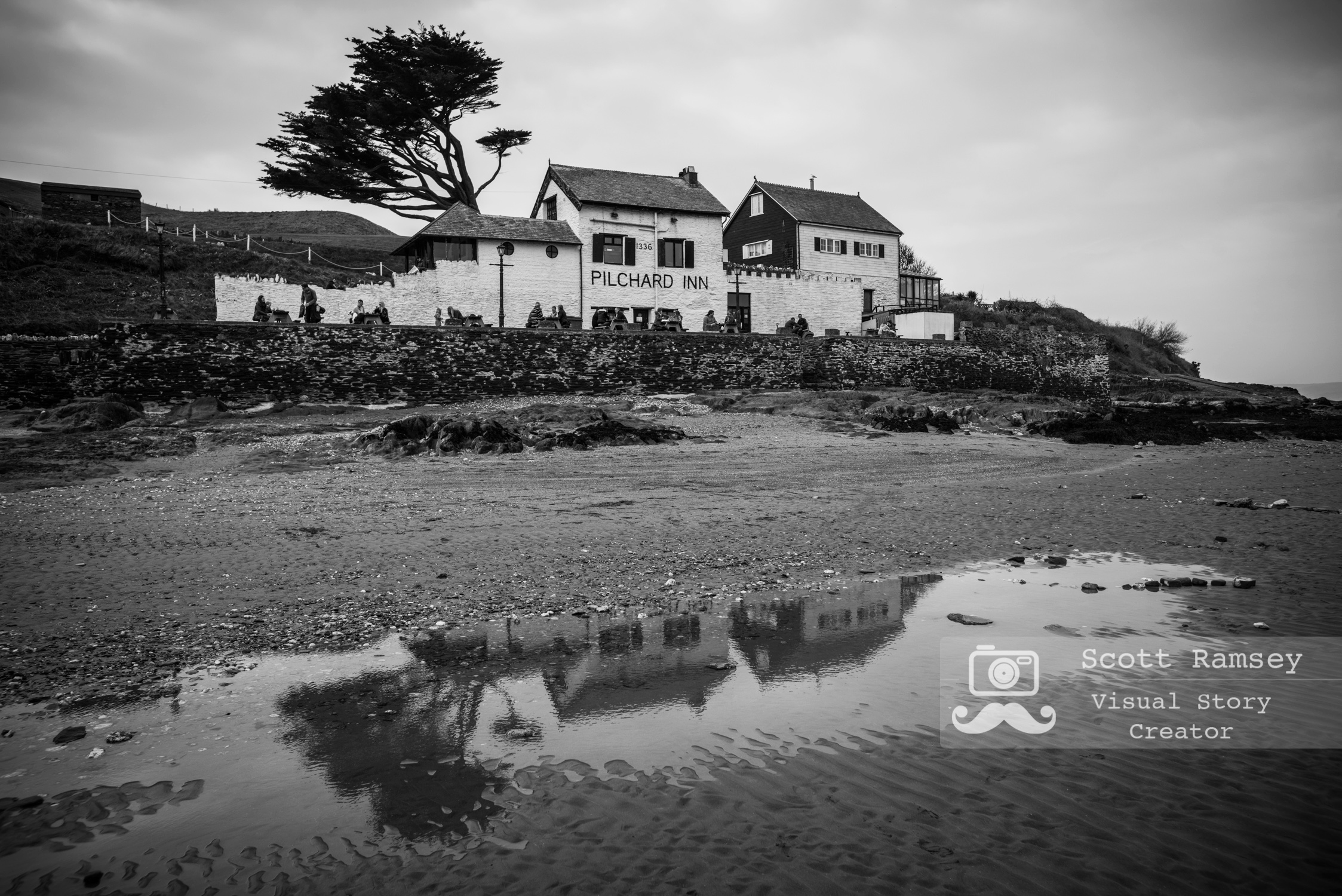 The Pilchard Inn on Burgh Island, Devon, England. Photo © Scott Ramsey. These days the Pilchard Inn serves holiday makers with a pint and crab sandwich however during the early part of it's 700 year history pilchard fisherman, smugglers and even wreckers would have visited. During the 17th and 18th Century smuggling was part of everyday life with  smugglers and wreckers  working together to lure unsuspecting ships onto the Western rocks.