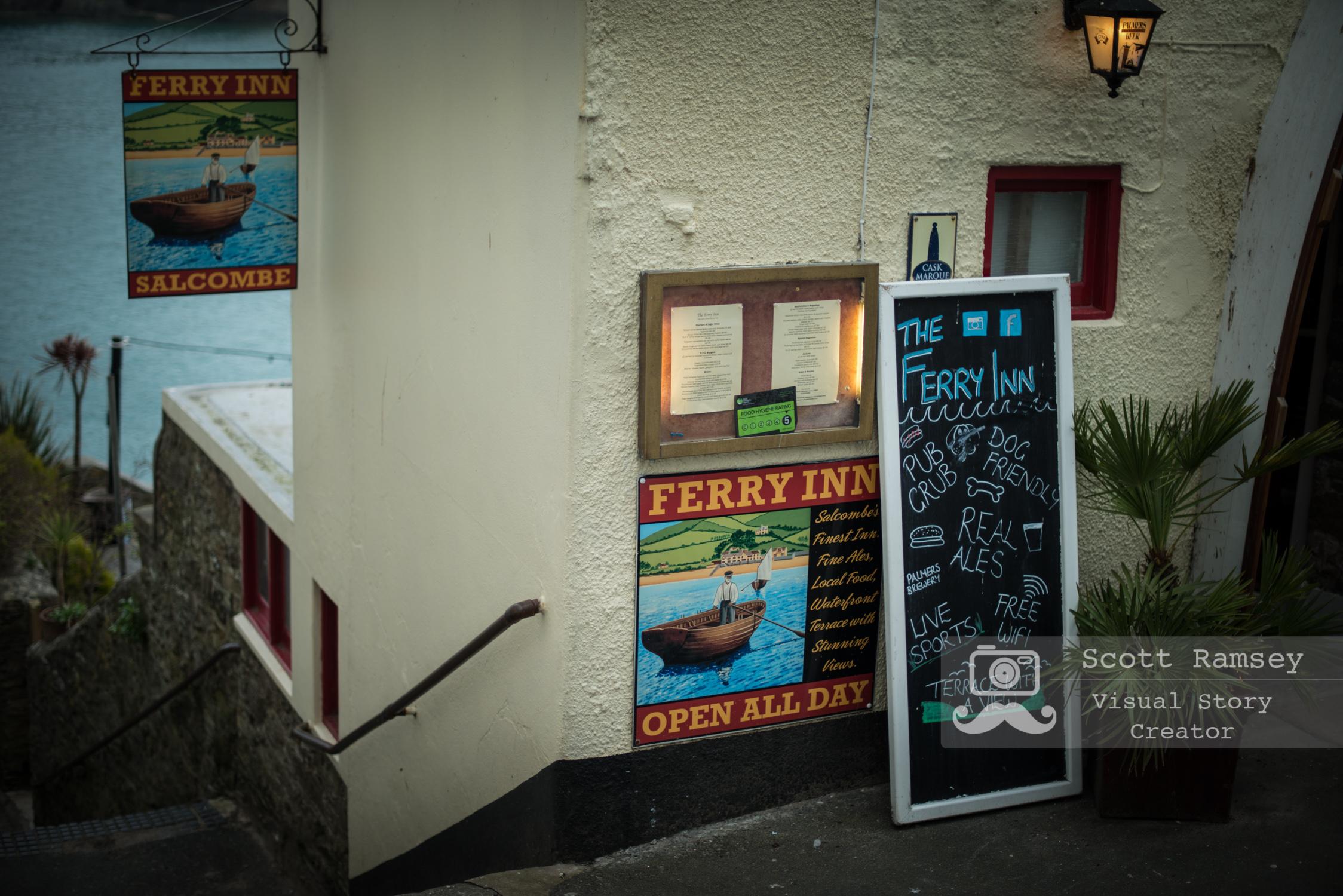 The Ferry Inn overlooks the estuary in Salcombe. Photo © Scott Ramsey