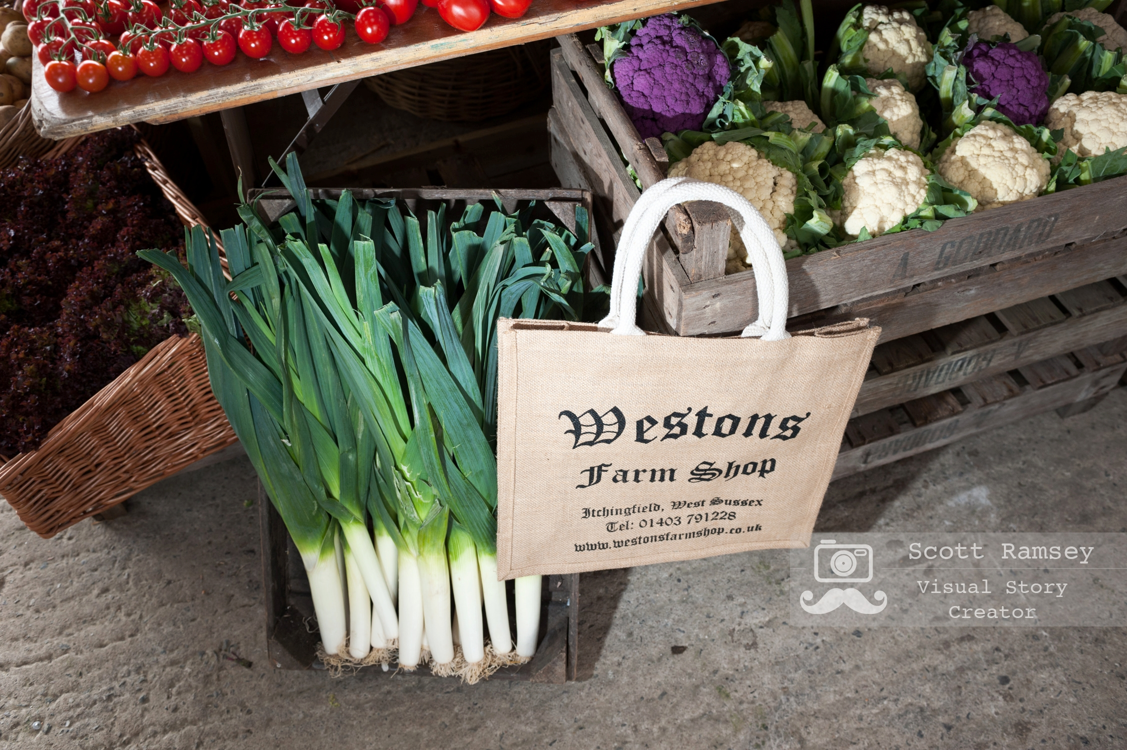 Fresh farm produce from a West Sussex farm on display at the 2017 South Of England Show. Photo © Scott Ramsey