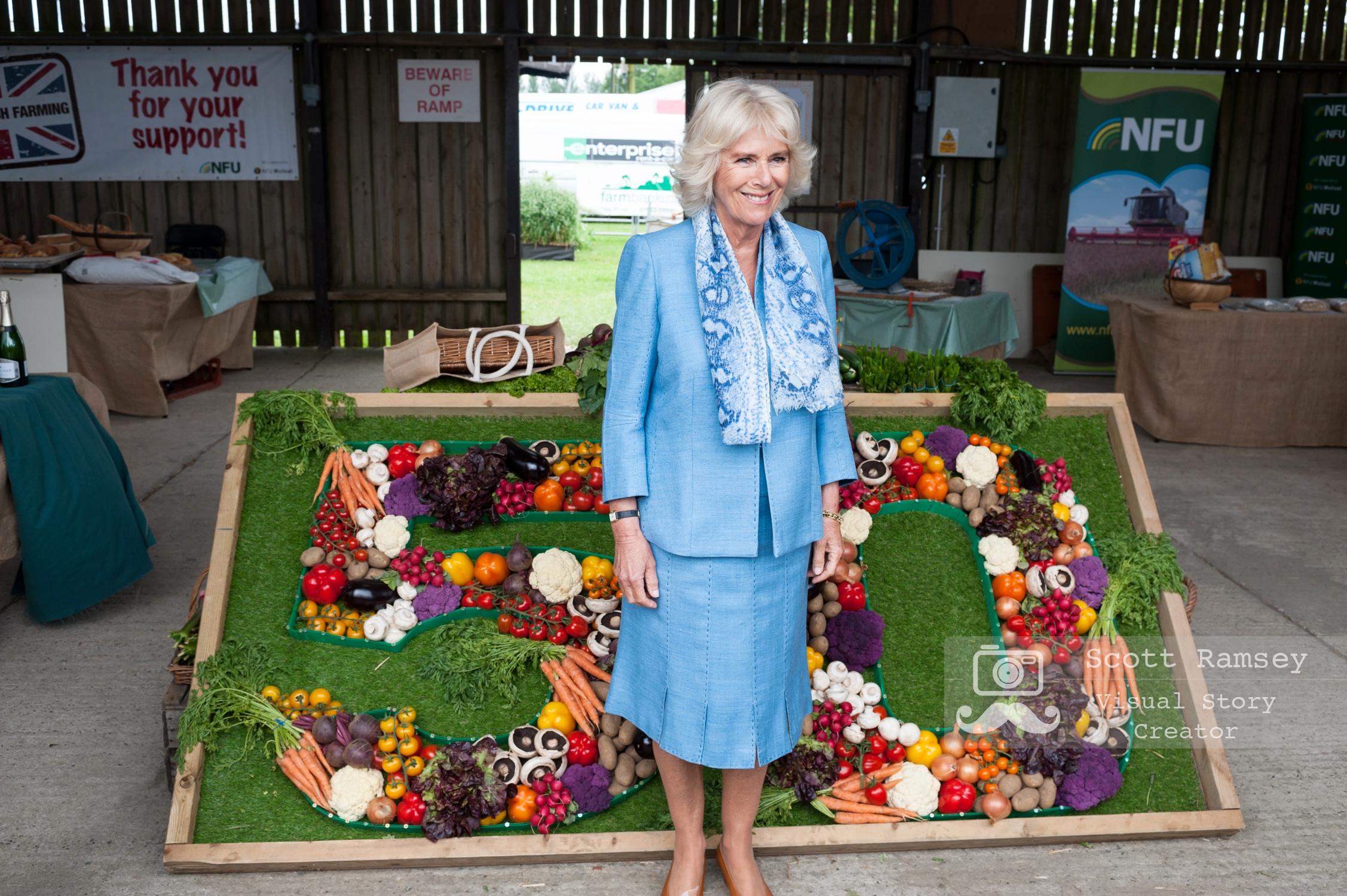 Brighton Photographer Scott Ramsey on assignment at the South Of England Show. HRH, The Duchess Of Cornwall, visits the South Of England Show. Photo © Scott Ramsey.