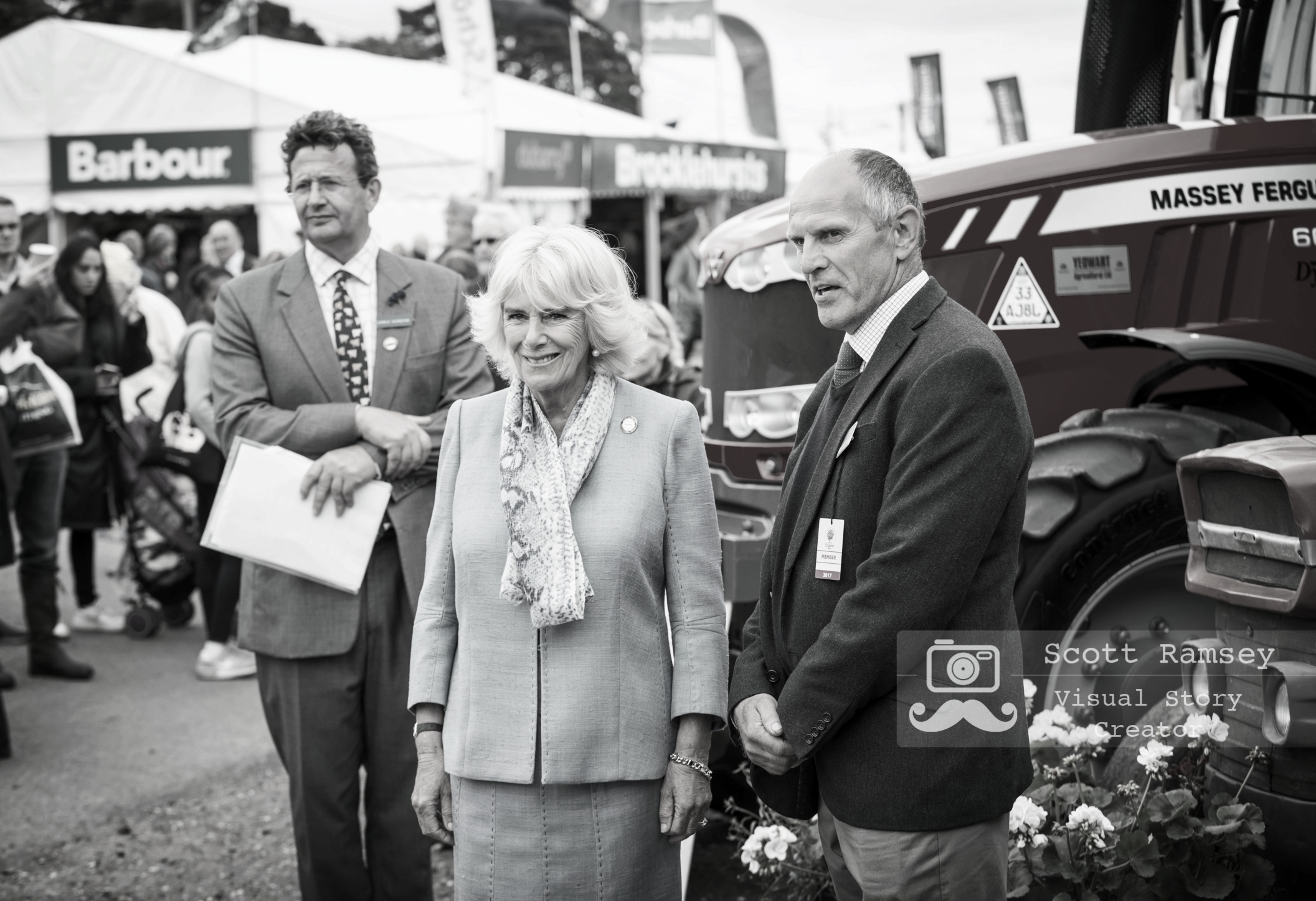 HRH, The Duchess Of Cornwall poses for a photograph during her visit to the 2017 South Of England Show. Photo © Scott Ramsey.