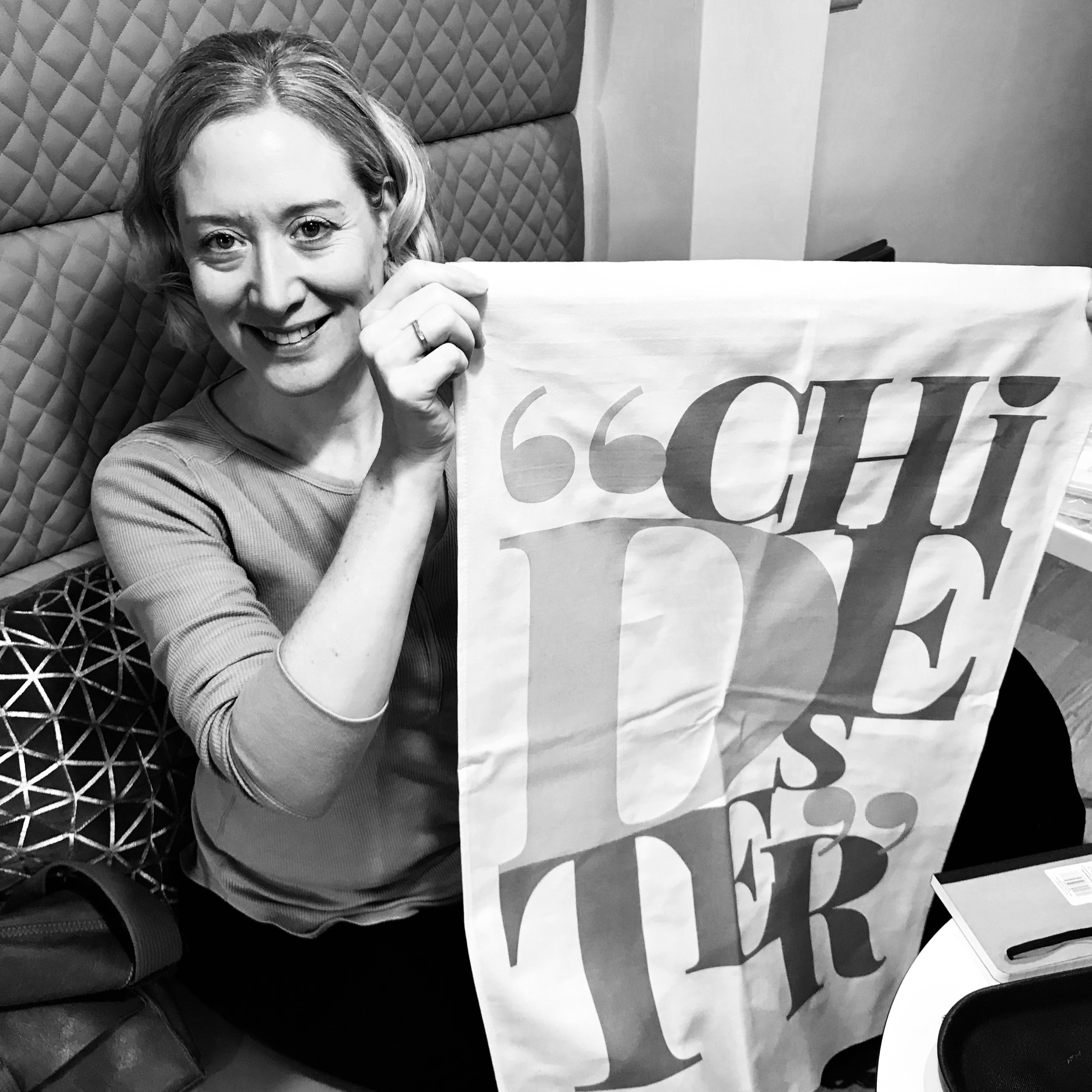 Whenever possible I like to support local people here's Emily Penny with her Chidester Tea Towel she created for a Chichester homeless charity.