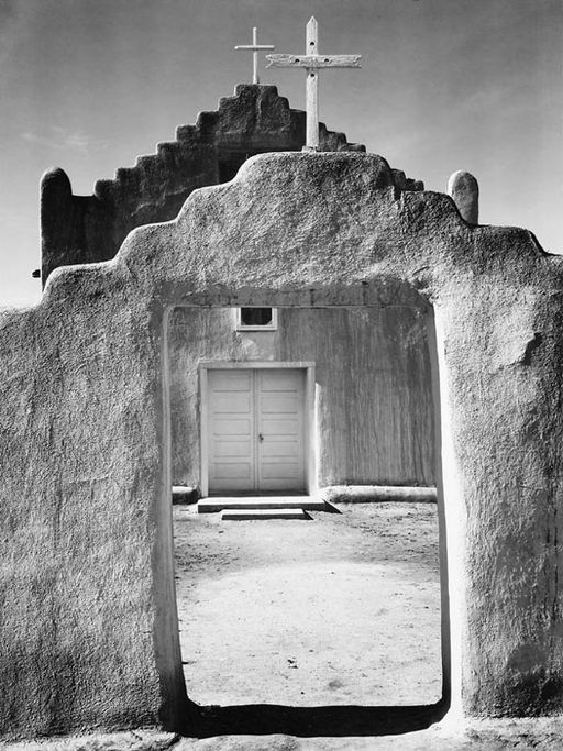 Taos Church by Ansel Adams