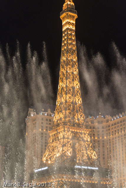 Bellagio Fountain and the Eiffel Tower