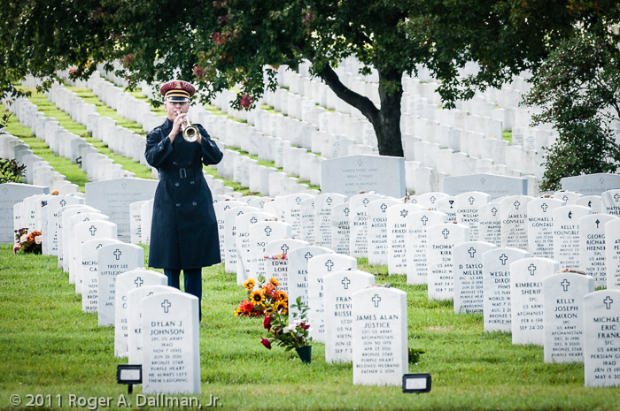 Look at the difference a simple re-cropping can make.  These are two different versions of the same photo in Arlington National Cemetery.  Look at your old images and rework them - you're a better photographer than you were in 2011.