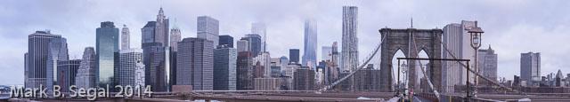 Lower West Side from the Brooklyn Bridge