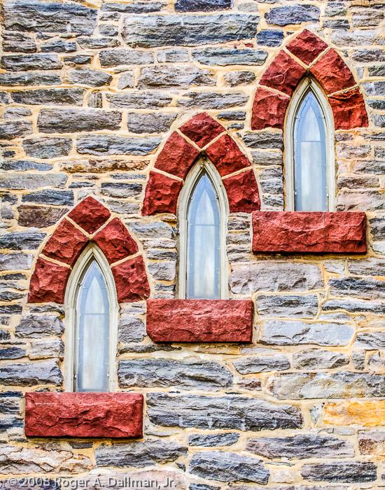 Church windows, in Harpers Ferry.