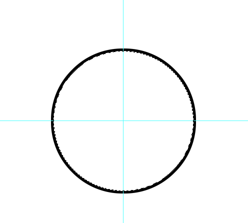 Centered circle, with a 10 pixel black stroke