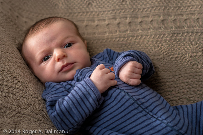 Our youngest grandkid, with an 85mm lens.