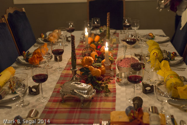 Aperture Priority to get the table in focus