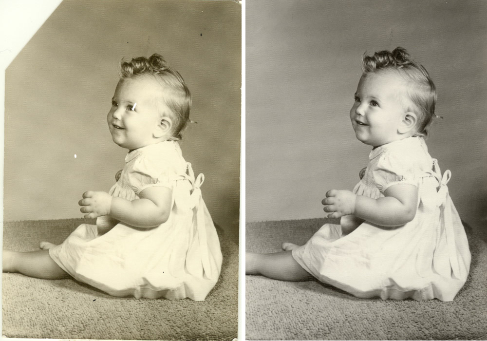 Easy restoration of an old photo.